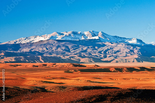 Aluminium Marokko Mountain landscape in the north of Africa, Morocco