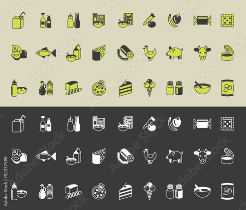 grocery icons vector set