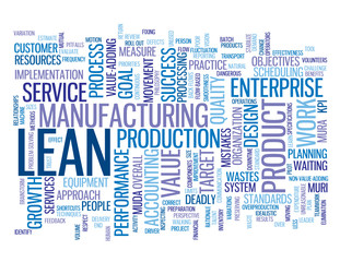 """LEAN"" Tag Cloud (smart quality process improvement efficiency)"