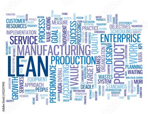 """""""LEAN"""" Tag Cloud (smart quality process improvement efficiency)"""