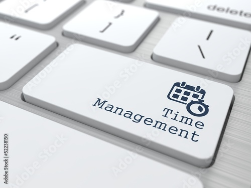 "Management Concept. Button ""Time Management""."