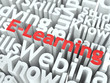 E-Learning. The Wordcloud Education Concept.