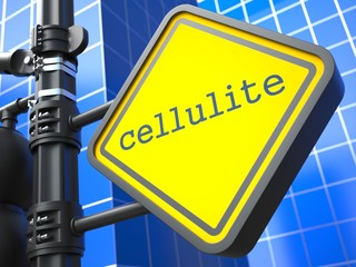 Cellulite Roadsign. Medical Concept.