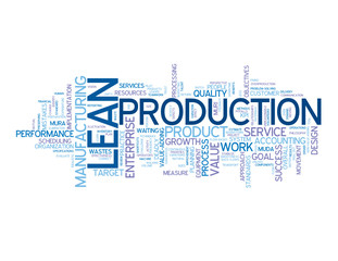 """LEAN PRODUCTION"" Tag Cloud (manufacturing process quality)"