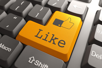 """Keyboard with """"Like"""" Button."""