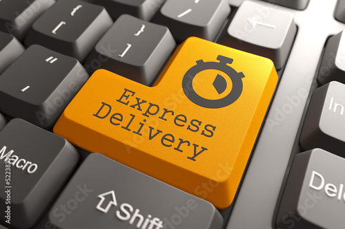 "Keyboard with ""Express Delivery"" Button."