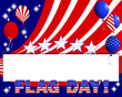 Flag day background.