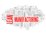 LEAN MANUFATURING Tag Cloud (production process quality goals)