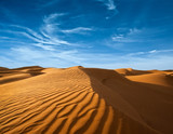 Desert of North Africa, sandy barkhans