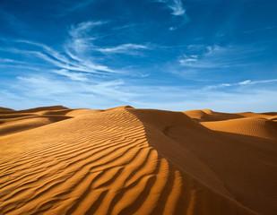 Desert of North Africa, sandy barkhans