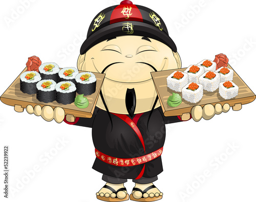 cook of sushi