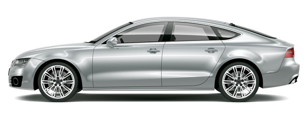 Four-door luxury car - side view