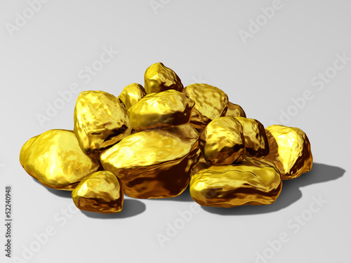heap of Gold nuggets