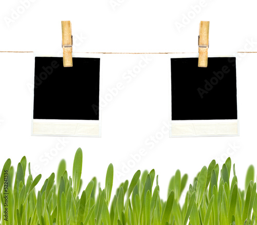 Empty paper tag on white background