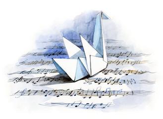 paper origami bird