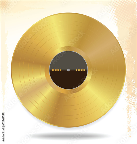 Gold vinyl - music award