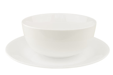 White Bowl on White Background