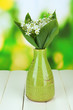 Beautiful mountain daffodils in  color vase,