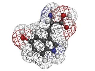 5-hydroxytryptophan (5-HTP, oxitriptan) antidepressant, molecula