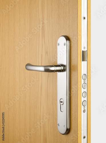 Wooden doors with lock 3