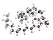 Ceramide cell membrane lipid, molecular model