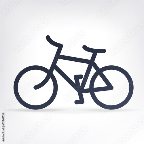 Minimalistic bicycle icon. Vector, EPS10