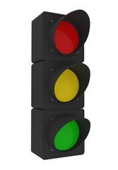 Traffic Light isolated on white - 3d illustration