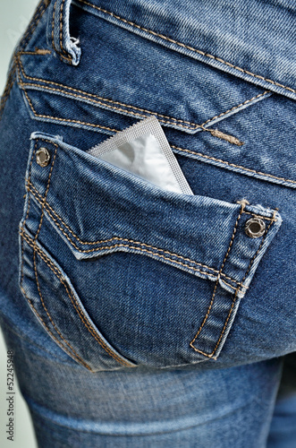 Condom in back pocket