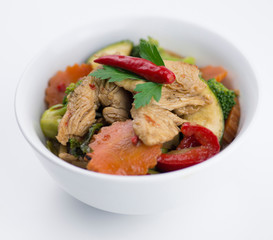 Thai chicken chili basil with mixed vegetables