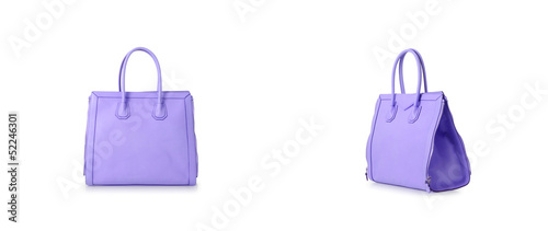 Set of woman bags isolated on the white