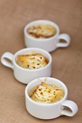 French onion gratin soup
