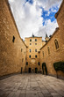 Courtyard in the Alcazar of Segovia, Castilla y Leon, Spain