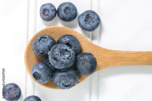 Fresh Blueberries Close Up