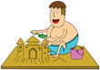 making sand castle