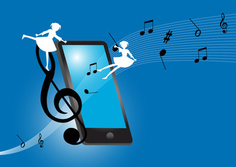 Smartphone with music