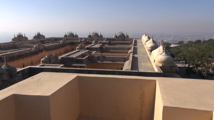Jaipur red city   Nahargarh fort in Rajasthan, India