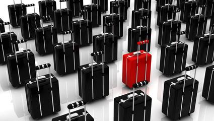 3d suitcases