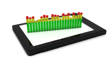 3d Digital equalizer on a tablet