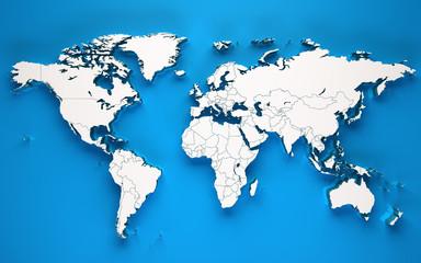 3d world soft shadows - Blue background