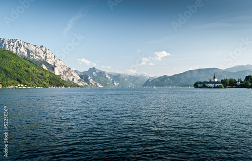 Castle Schloss Ort ,Traunsee lake - Austria