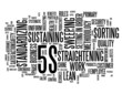 """5S"" Tag Cloud (lean organization methodology smart process)"