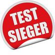 Sticker rot rund cu TESTSIEGER