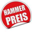 Sticker rot rund cu HAMMERPREIS