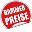 Sticker rot rund cu HAMMERPREISE