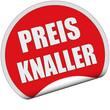 Sticker rot rund cu PREISKNALLER