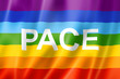 Rainbow peace / pace flag