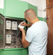 Man rewrites electric meter readings