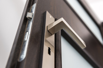 Modern, contemporary satin handle