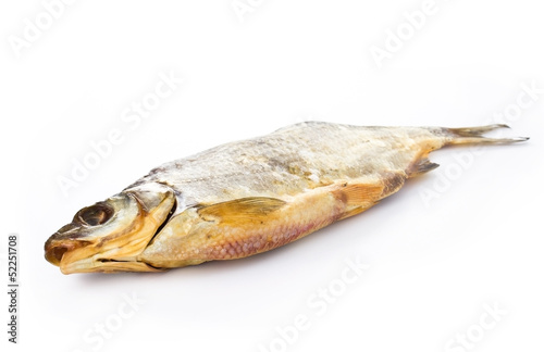 Dried fish on a white background