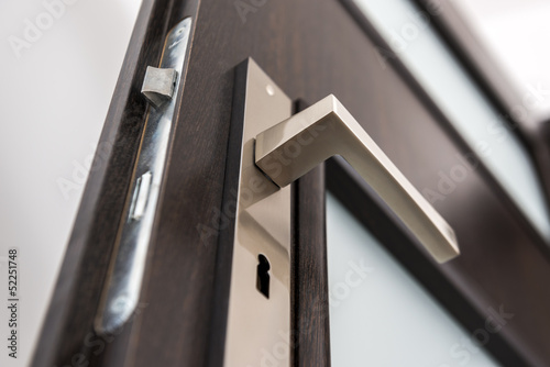 Modern, contemporary satin handle - 52251748